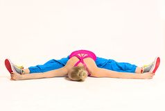 Woman stretching her body Stock Image