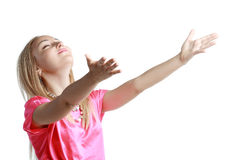 Woman stretching her hands Stock Photography