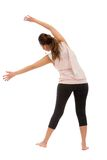 Woman stretching isolated Stock Photo