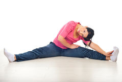 Woman stretching legs Stock Image