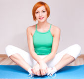Woman stretching the muscles Royalty Free Stock Photo