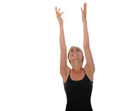 Woman stretching Stock Image