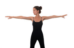 Woman stretching Royalty Free Stock Photo
