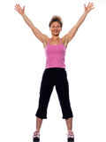 Woman stretching posture Stock Photography