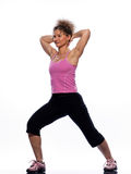 Woman stretching posture Stock Images