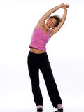Woman stretching posture Royalty Free Stock Images