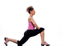 Woman stretching posture Stock Image