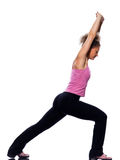 Woman stretching posture Royalty Free Stock Photo
