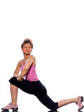 Woman stretching posture Royalty Free Stock Image