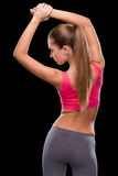 Woman stretching. Royalty Free Stock Photo
