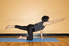 Woman Stretching in Yoga Pose Stock Photos
