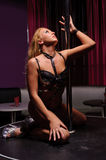 Woman in strip club Stock Image