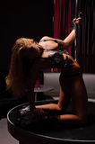 Woman in strip club Stock Photos