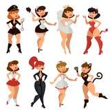 woman girl striptease clothes vector cartoon vector illustration