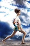 Woman in studio Royalty Free Stock Image