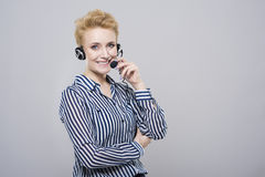 Woman at the studio Royalty Free Stock Photo