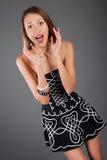 Woman in studio emotion portrait Stock Image