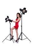 Woman in studio Royalty Free Stock Photo