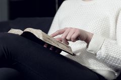 Woman study the Holy bible Stock Photography