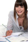 Woman studying Stock Image