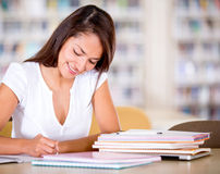 Woman studying Royalty Free Stock Image