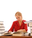 Woman studying Stock Photos