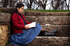 Woman Studying the Bible Stock Photography