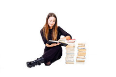 Woman studying Royalty Free Stock Images