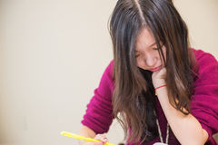 Woman studying Stock Image