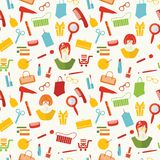 Woman stuff pattern Royalty Free Stock Image