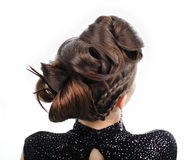 Woman with style hairstyle Stock Photos