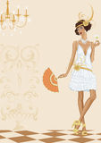 Woman in style of the twenties Royalty Free Stock Photos