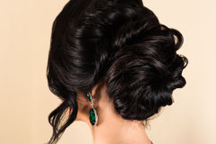 Woman with stylish hairstyle Stock Image
