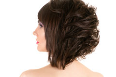 Woman with stylish hairstyle and makeup Royalty Free Stock Images