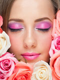 Woman with stylish make-up Royalty Free Stock Image