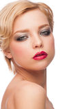Woman with stylish makeup Royalty Free Stock Images