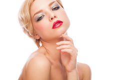 Woman with stylish makeup Royalty Free Stock Photo