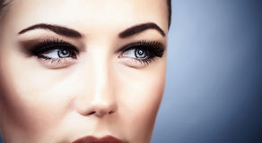 Woman with stylish makeup royalty free stock photography