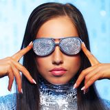Woman in stylish sunglasses Stock Image