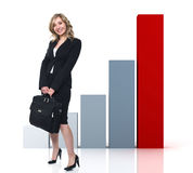 Woman and success Stock Images
