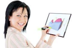 Woman success diagram Stock Image