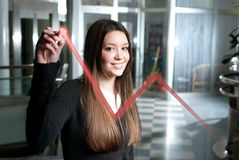 Woman in successful company Stock Image