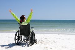 Woman Successful Disabled Royalty Free Stock Images