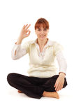 Woman successful happy Stock Photography