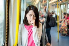 Woman suffer from cough Royalty Free Stock Photography