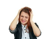 Woman suffering Royalty Free Stock Photo