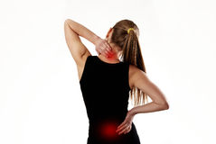Woman suffering from backache Royalty Free Stock Photos