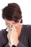 Woman suffering from a cold or flu Stock Photography