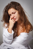 Woman suffering from depression. Young woman suffering from depression Stock Image