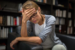 Woman suffering from depression Stock Images